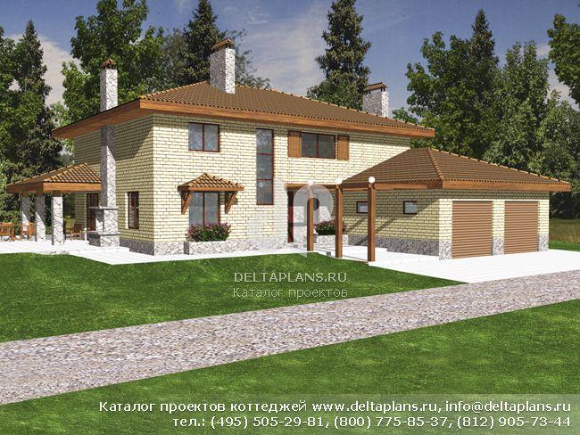Кирпичный дом. Проект № M-263-1K
