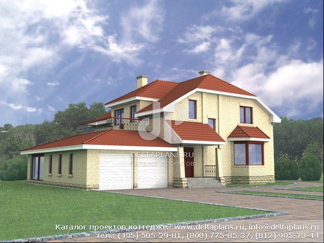 Пенобетонный дом. Проект № M-265-1P