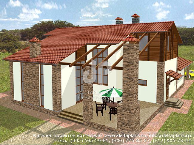 Кирпичный дом. Проект № M-266-1K