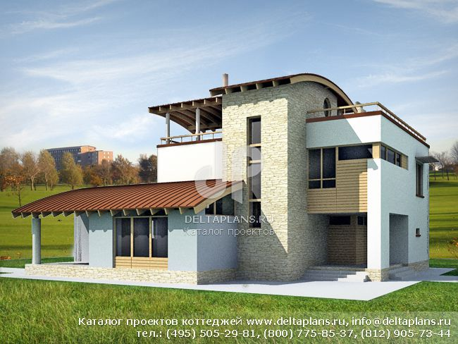Кирпичный дом. Проект № M-287-1K
