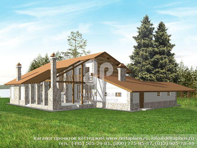 Кирпичный дом. Проект № M-293-1K