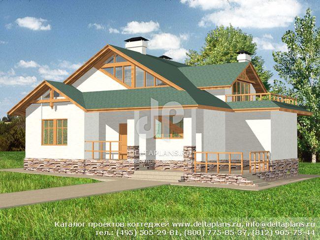 Пенобетонный дом. Проект № M-310-1P
