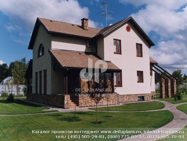 Кирпичный дом. Проект № M-320-1K