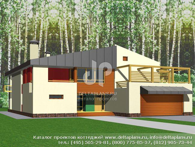 Кирпичный дом. Проект № M-335-1K