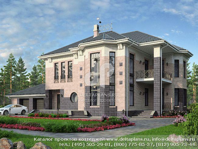 Кирпичный дом. Проект № M-344-1K