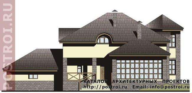 Кирпичный дом. Проект № M-348-1K