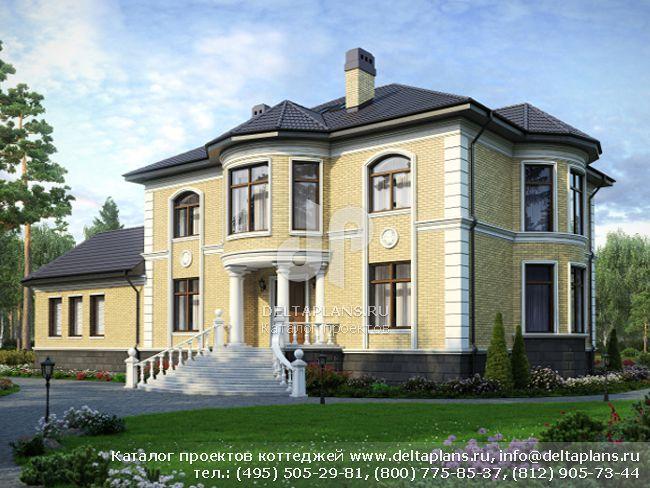 Кирпичный дом. Проект № M-359-1K