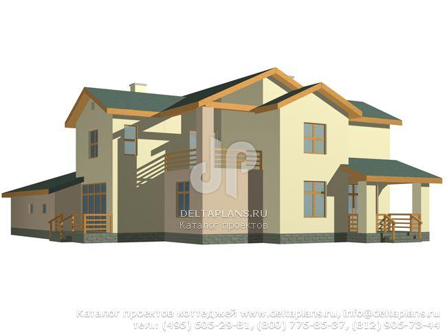 Кирпичный дом. Проект № M-369-1K