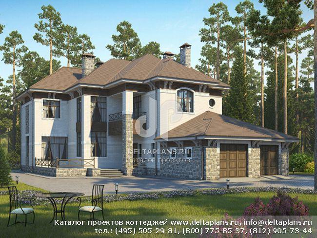 Кирпичный дом. Проект № M-389-1K