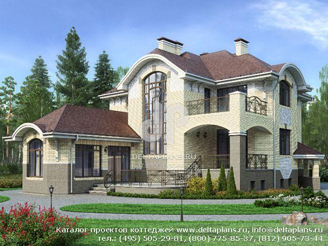 Кирпичный дом. Проект № M-396-1K