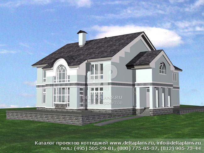 Пенобетонный дом. Проект № M-412-1P