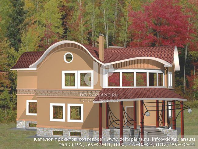 Пенобетонный дом. Проект № M-559-1P