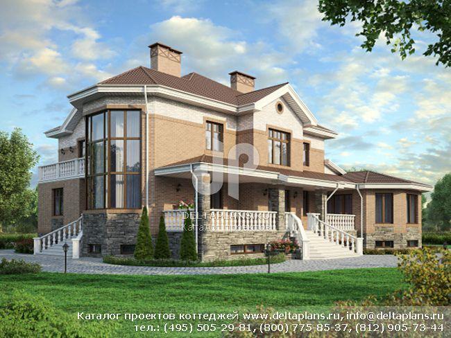 Кирпичный дом. Проект № M-592-1K