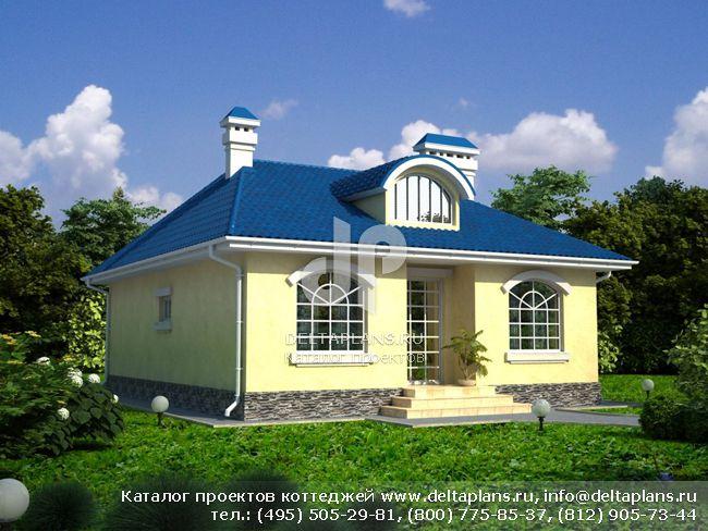Загородный дом с камином № N-092-1K