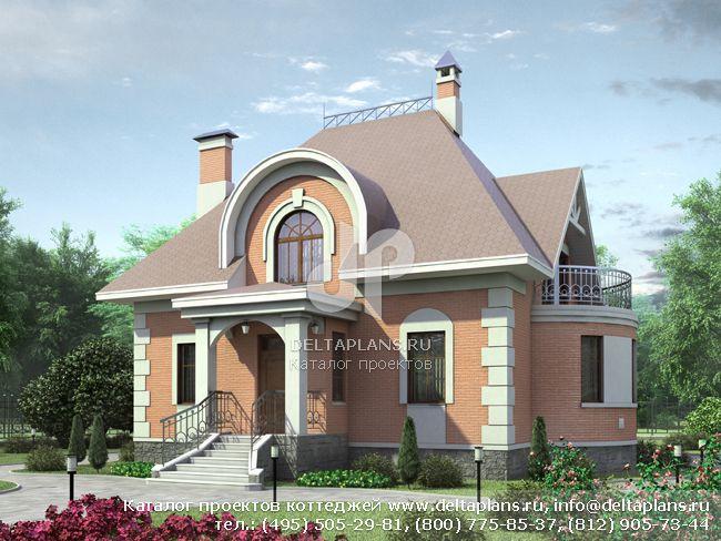 Кирпичный дом. Проект № N-202-1K