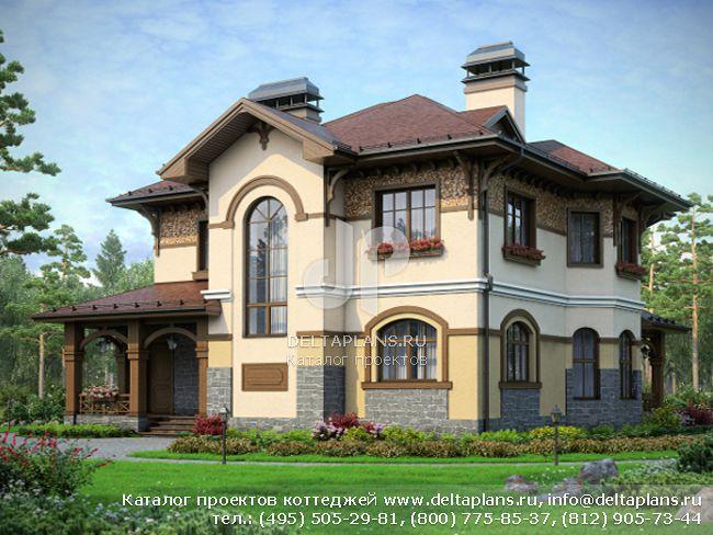 Кирпичный дом. Проект № N-212-1K