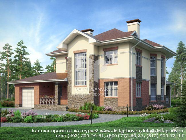 Кирпичный дом. Проект № N-216-1K
