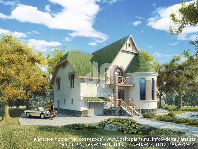 Пенобетонный дом. Проект № N-239-1P