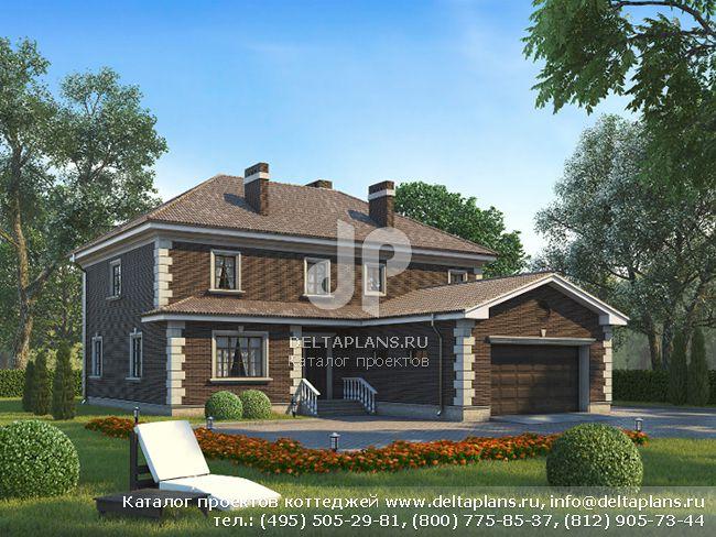 Кирпичный дом. Проект № N-293-1K