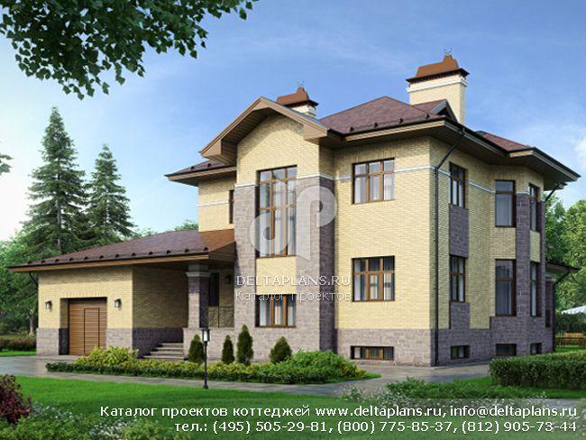 Кирпичный дом. Проект № N-353-1K