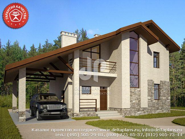 Кирпичный дом. Проект № O-117-1K