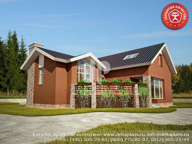 Кирпичный дом. Проект № O-158-1K