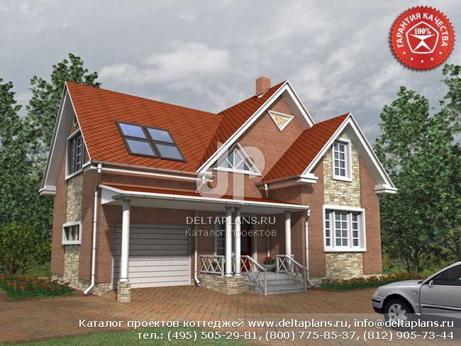 Кирпичный дом. Проект № O-160-1K