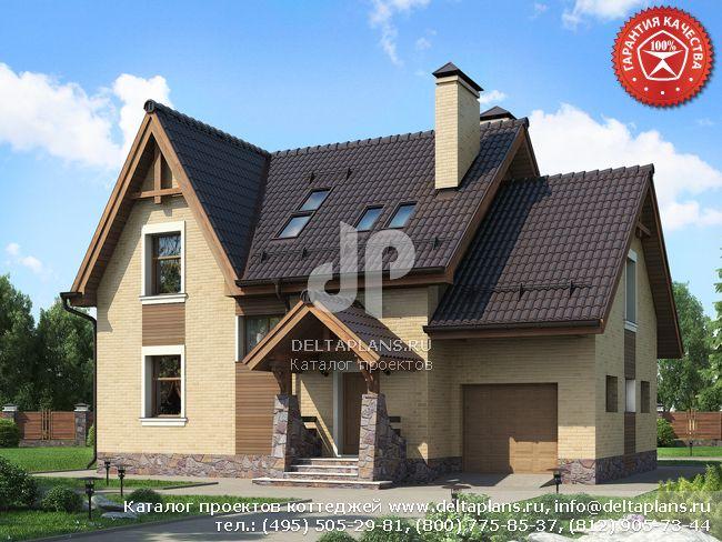 Кирпичный дом. Проект № O-172-1K