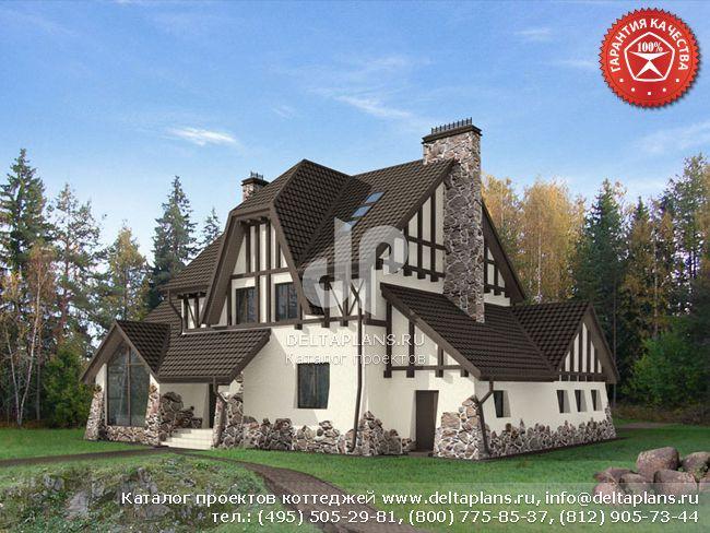 Кирпичный дом. Проект № O-301-1K