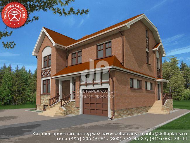 Кирпичный дом. Проект № O-328-1K