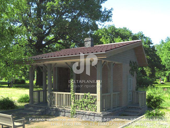Кирпичный дом. Проект № P-026-1K