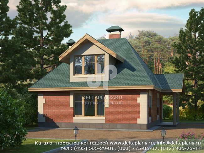 Пенобетонный дом. Проект № P-087-1P