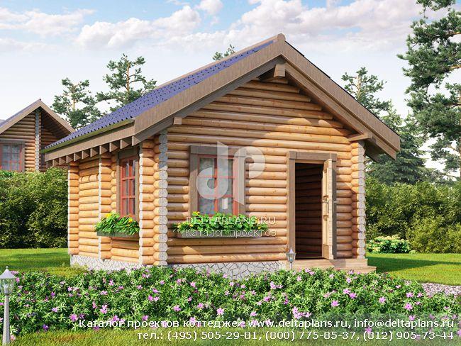 Деревянный дом. Проект № Q-020-1D