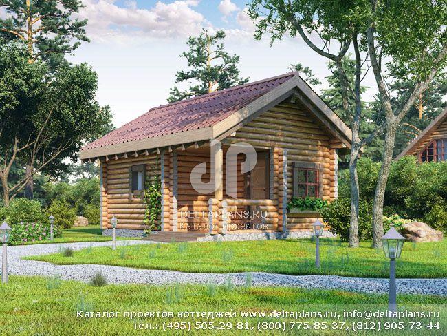 Деревянный дом. Проект № Q-025-2D