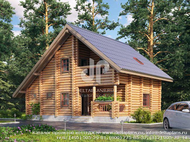 Деревянный дом. Проект № Q-111-1D