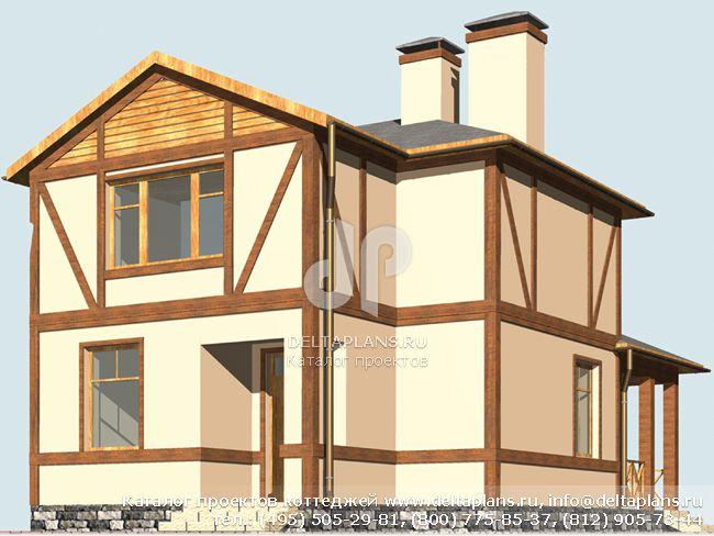 Пенобетонный дом. Проект № R-104-1P