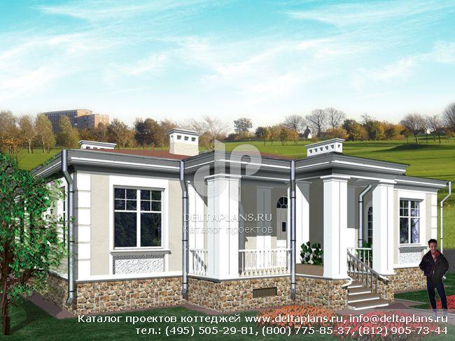 Кирпичный дом. Проект № R-121-1K