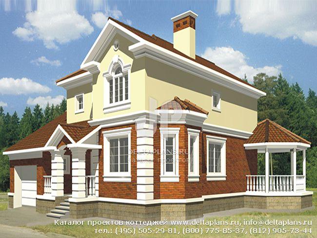 Пенобетонный дом. Проект № R-189-1P
