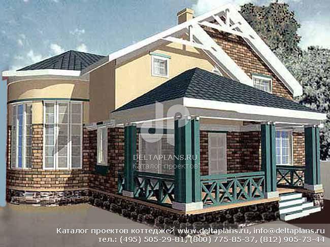 Кирпичный дом. Проект № R-215-1K