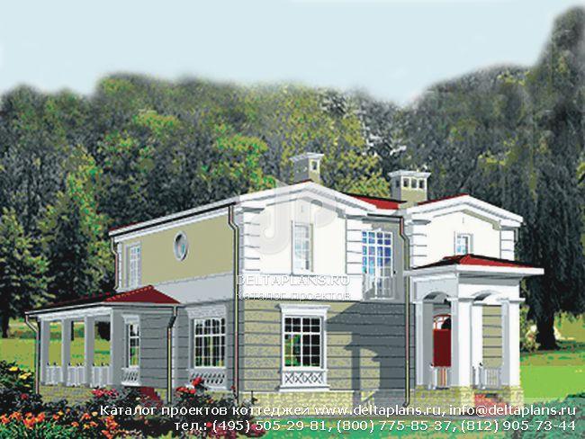 Кирпичный дом. Проект № R-216-1K