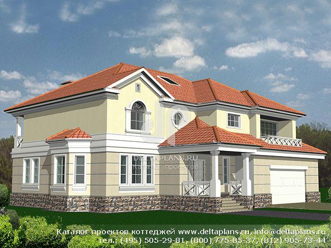 Кирпичный дом. Проект № R-355-1K