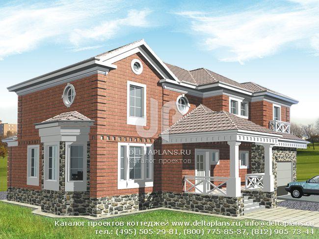 Кирпичный дом. Проект № R-368-1K