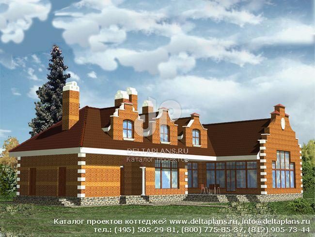 Кирпичный дом. Проект № R-390-1K