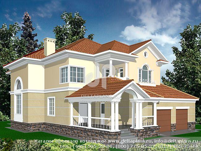 Кирпичный дом. Проект № R-398-1K