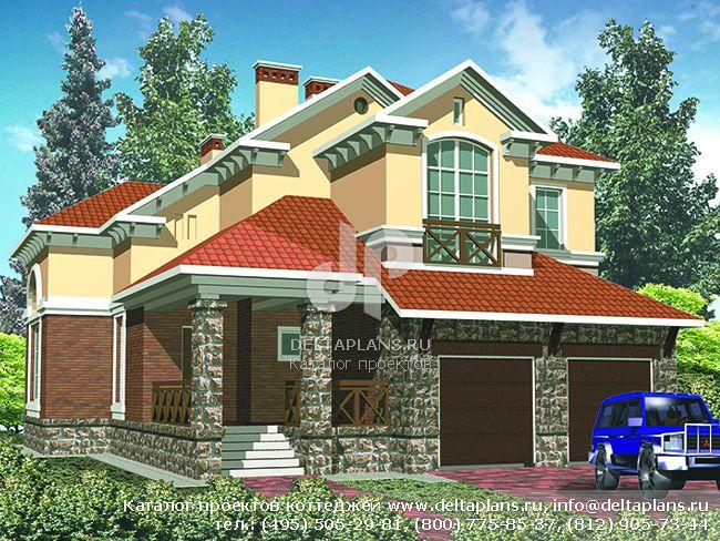 Кирпичный дом. Проект № R-410-1K