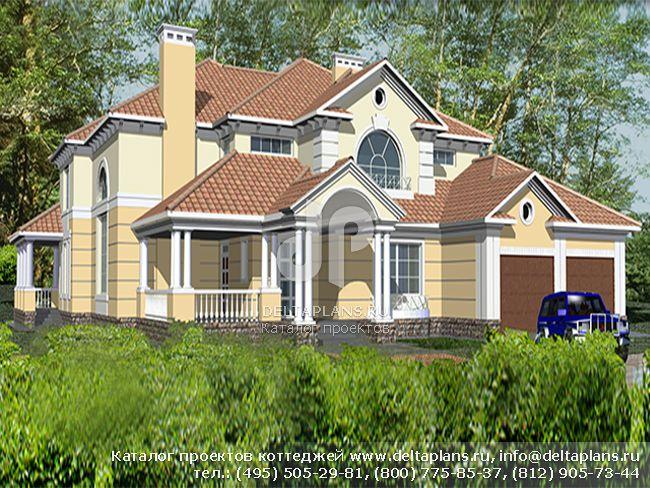 Кирпичный дом. Проект № R-446-1K