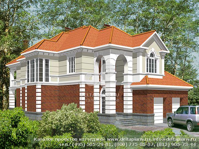 Кирпичный дом. Проект № R-455-1K