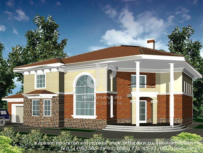 Кирпичный дом. Проект № R-467-1K