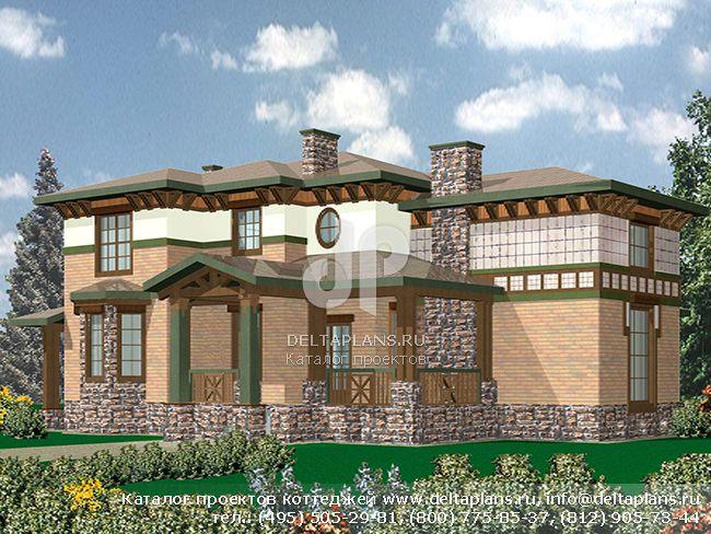 Кирпичный дом. Проект № R-550-1K