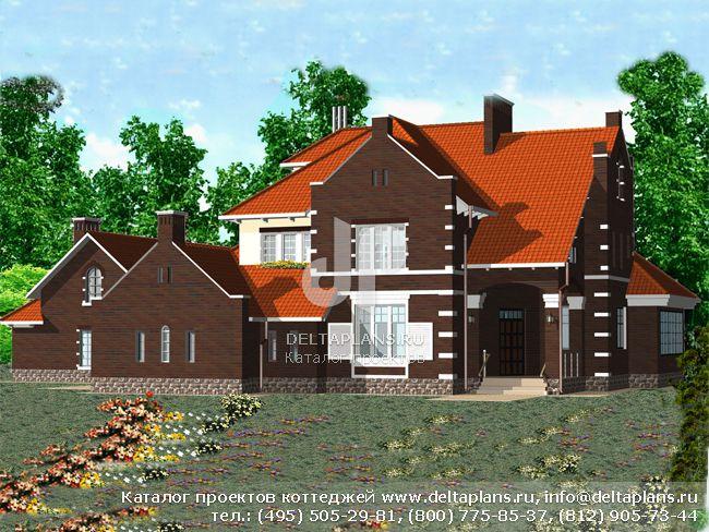 Кирпичный дом. Проект № R-551-1K